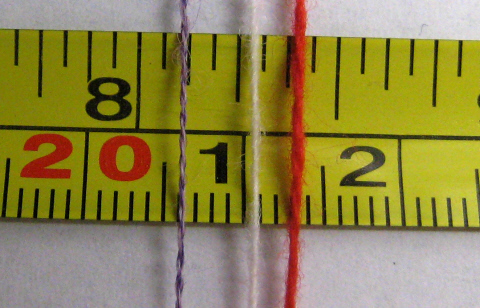 PP compared on tape measure