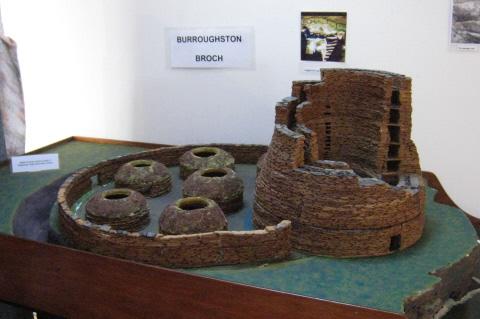 model of Burroughston Broch