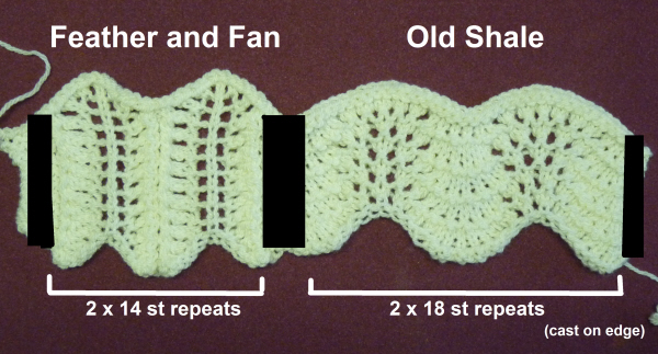 Fan And Feather Afghan Knitting Pattern : Feather and Fan versus Old Shale   Northern Lace