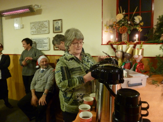 Phyllis Gee, who organises and bakes the food with Christine.