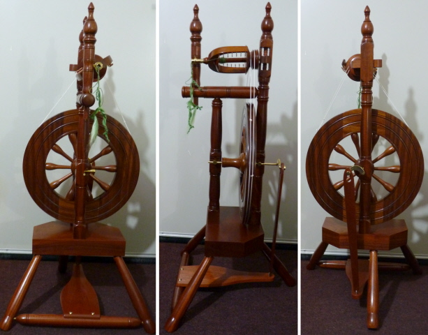 Granville Swanney upright Orkney spinning wheel
