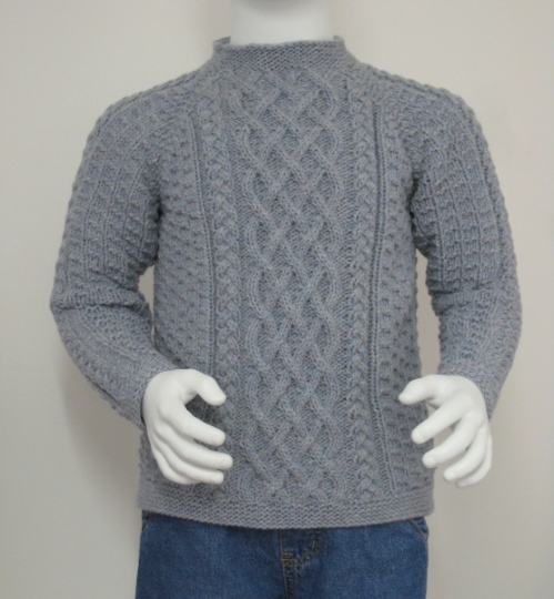 Lattice Cable child sweater
