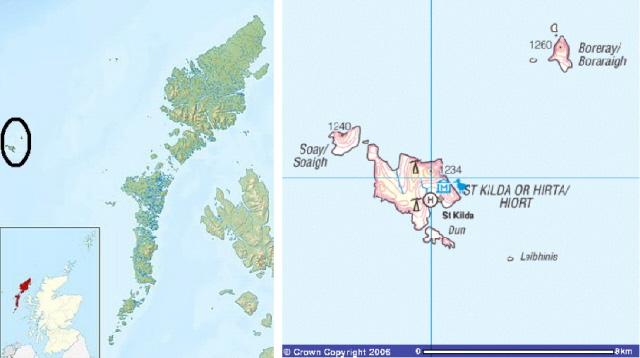 maps - St Kilda and Boreray