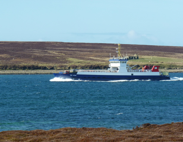MV Hoy Head between Flotta and Fara.
