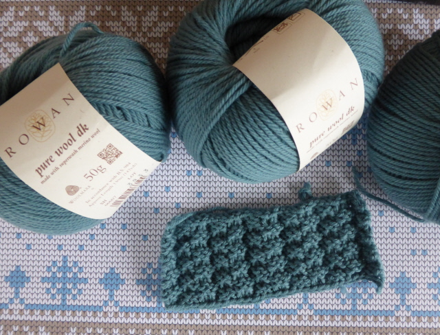swatch and yarn
