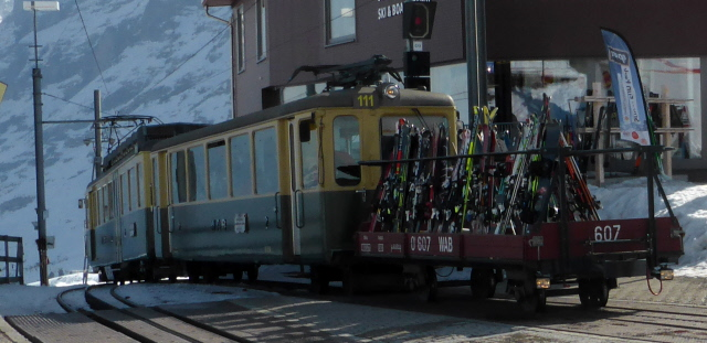 002 train with skis