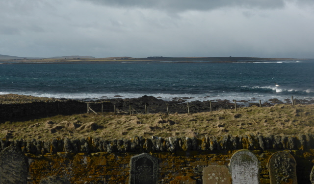 Looking to Westray airstrip from Papay