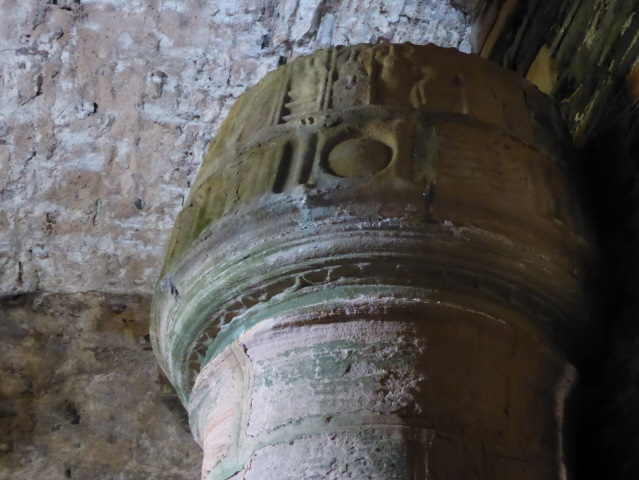 The one carved detail in the whole building - at the head of main staircase.