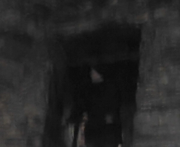 The castle ghost - or possibly Elly looking down.