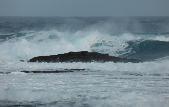 The waves were quite big!