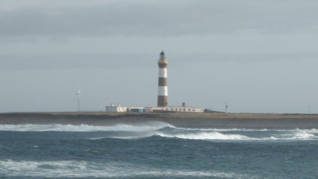 The 'new' lighthouse - the tallest land-based lighthouse in the UK.
