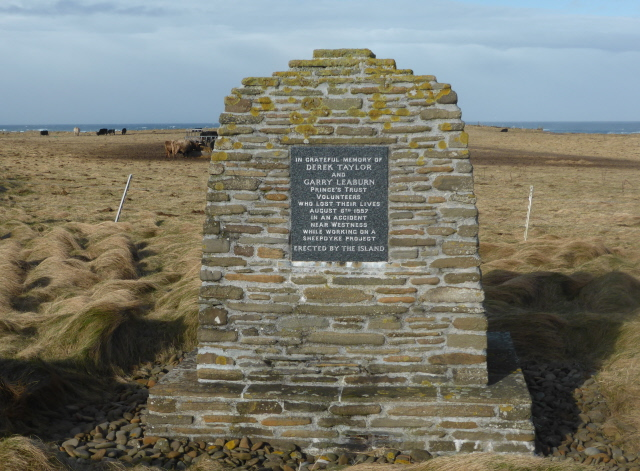 In 1997, two lads helping rebuild part of the sheep dyke were killed when a section of wall fall on them.  The islanders set up this memorial for them.  The boys are not forgotten.
