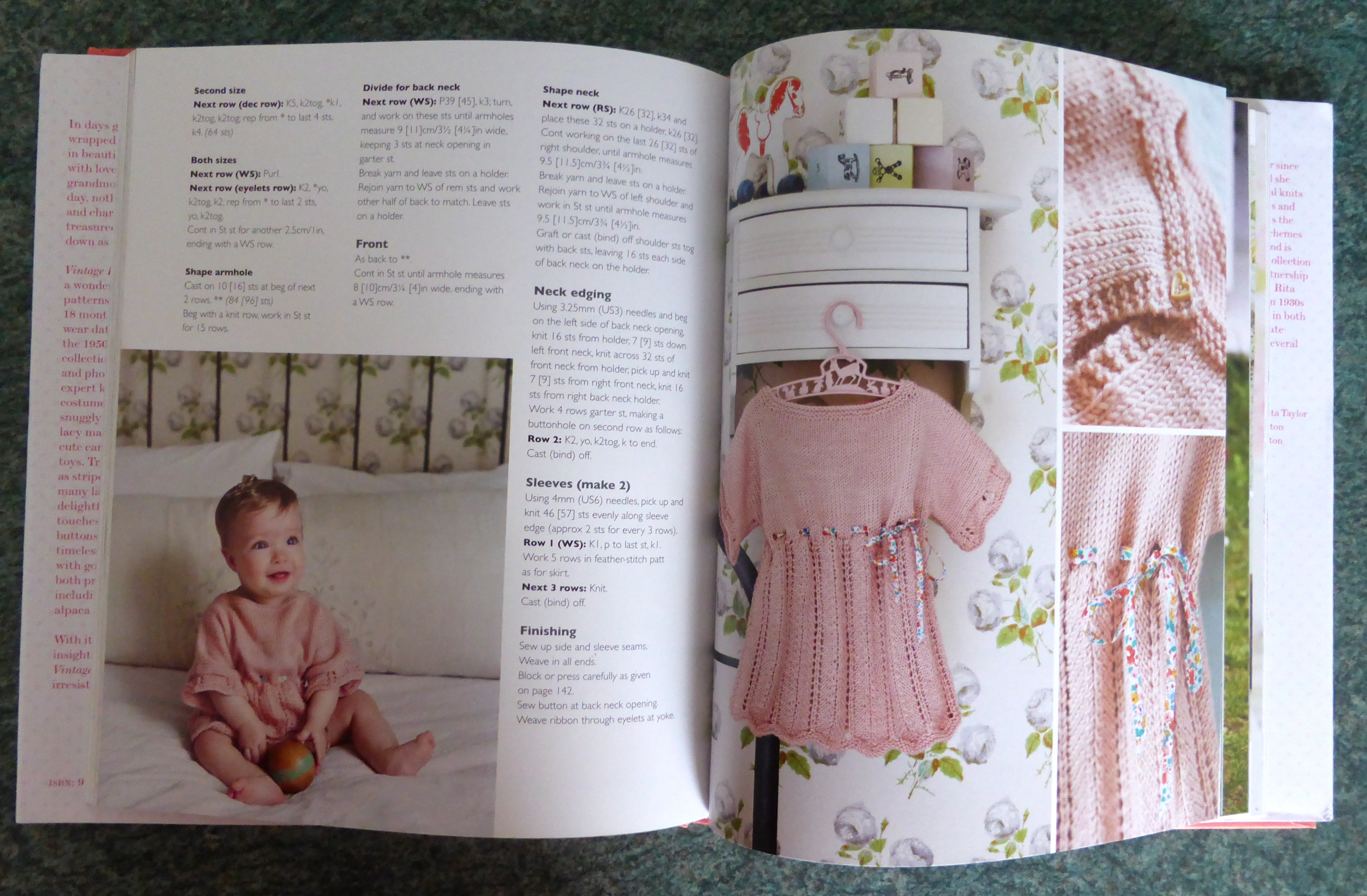 book review vintage knits for babies by rita taylor northern lace