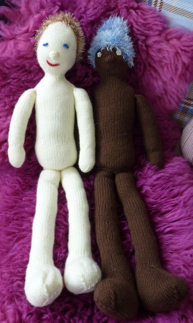 New Pattern Knitted Rag Dolls Northern Lace